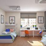 Спальные и рабочие места для детей