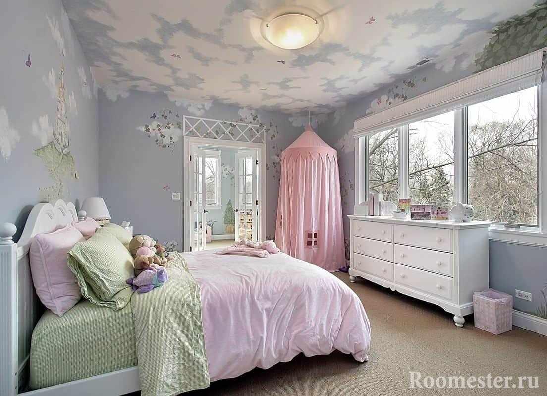 Спальня для двоих девочек в стиле прованс