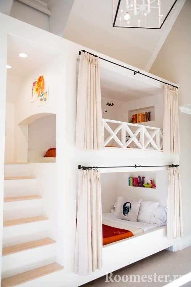 Кровать в два этажа для двух девочек