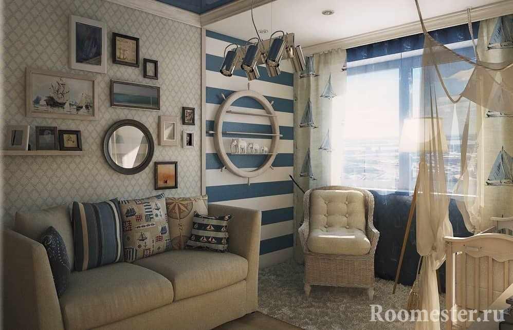 Морская тема в комнате