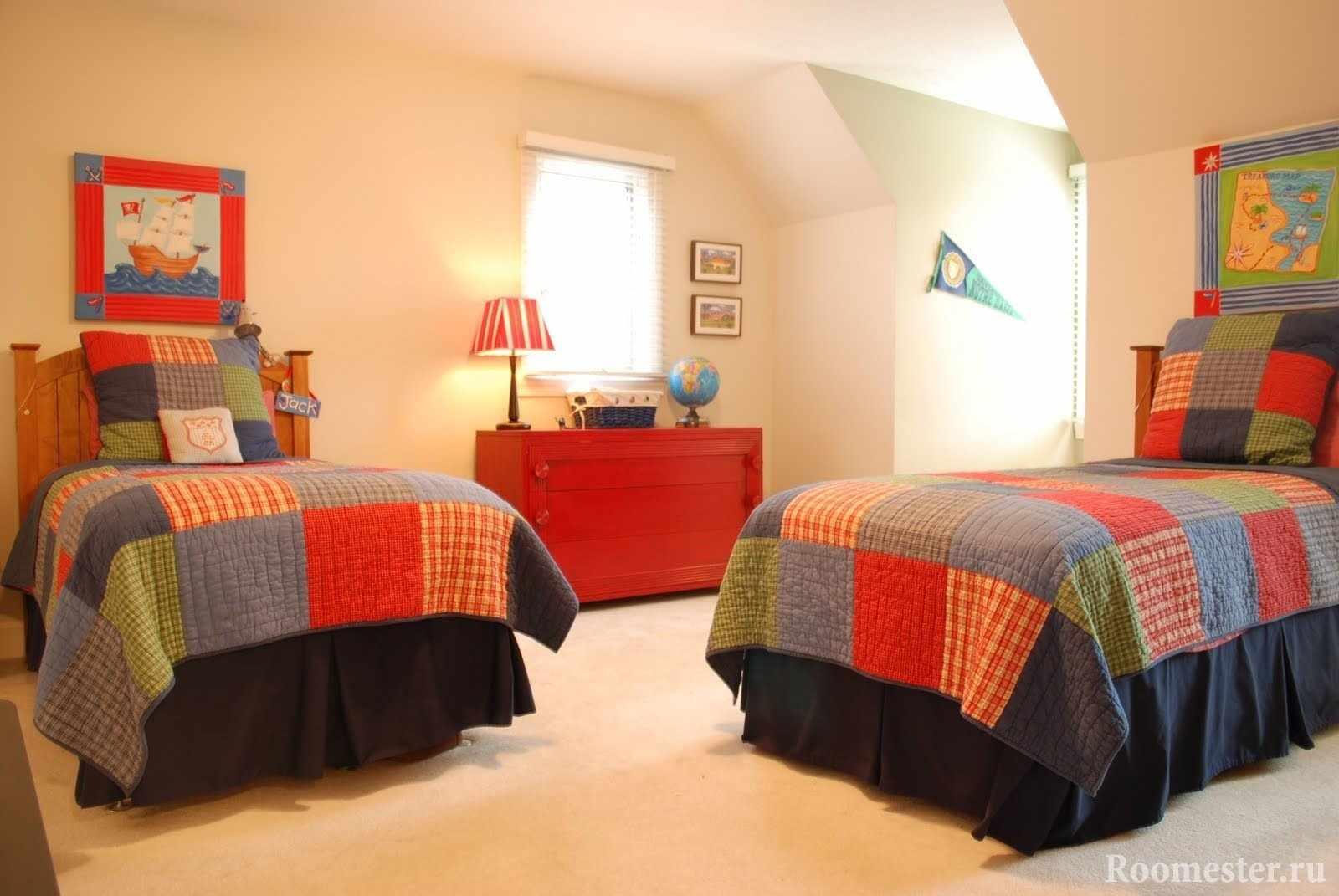 Расположение кроватей