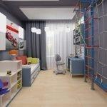 Серые стены в детской