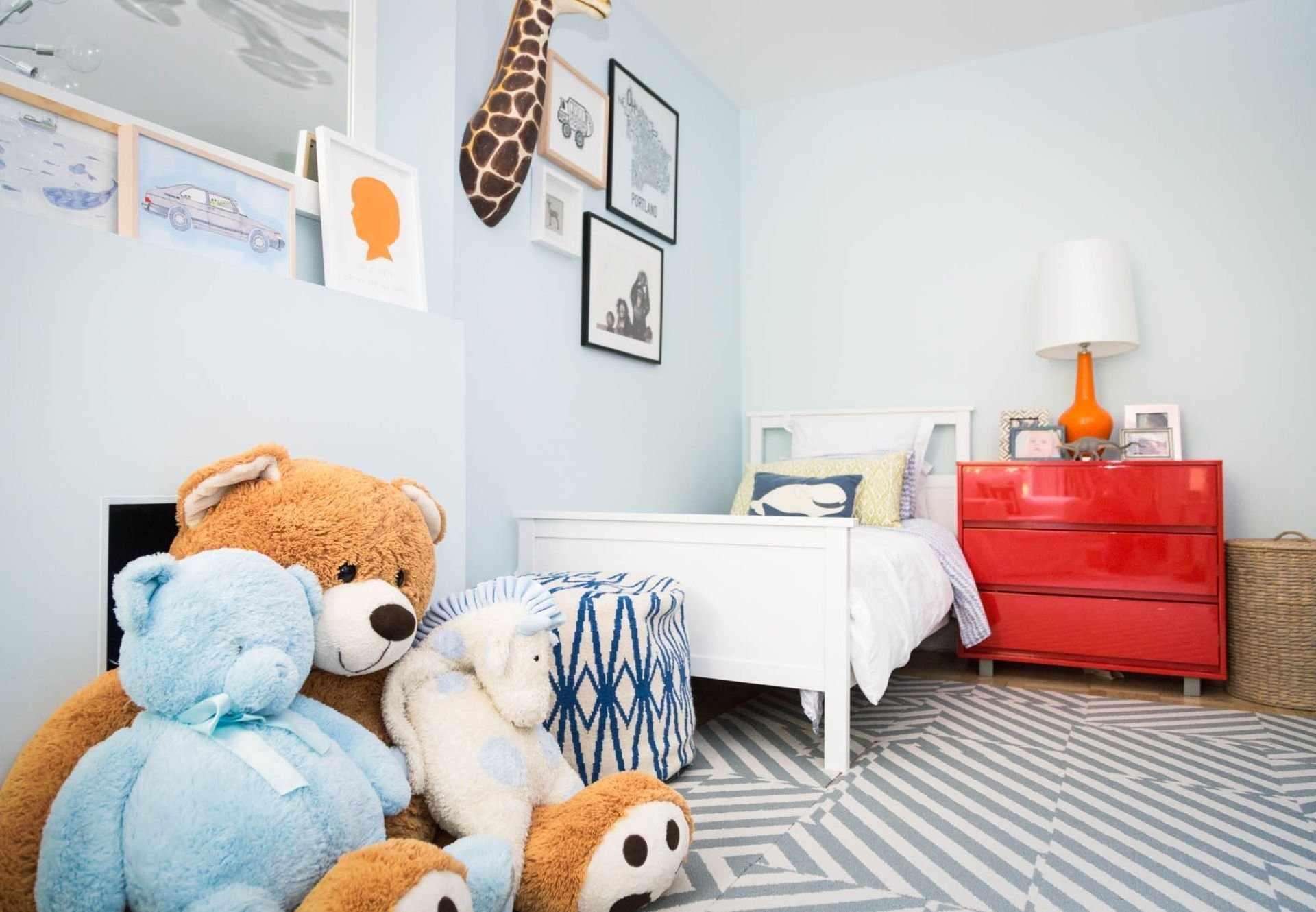 Норвежский стиль в декоре спальни для ребенка