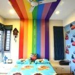 Радуга над кроватью