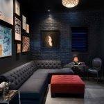 Черные стены в комнате