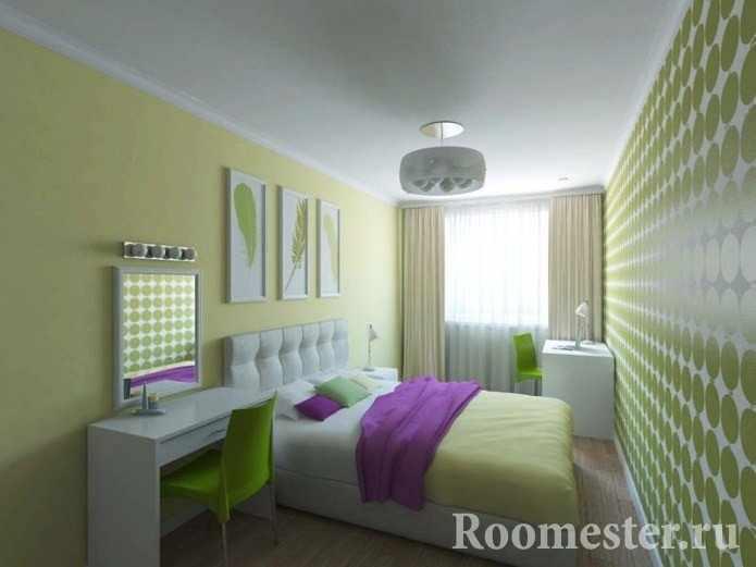 Спальня с одним окном