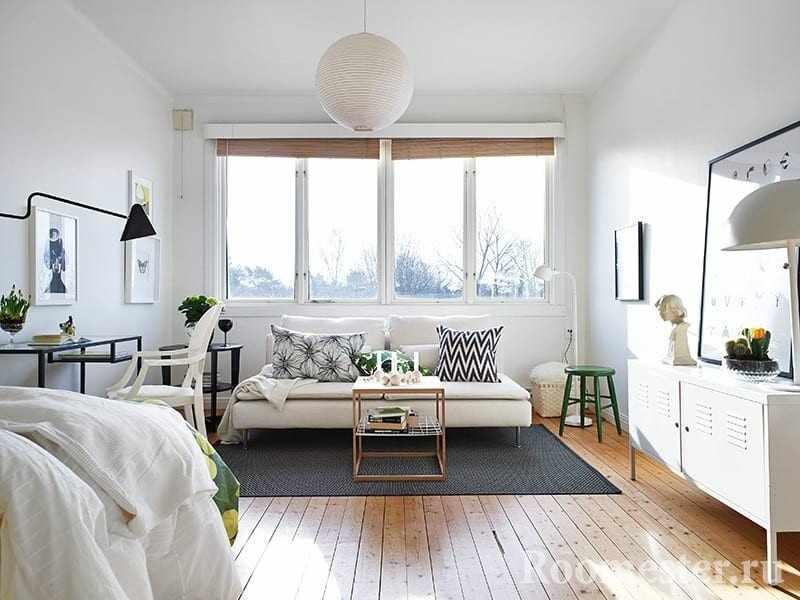 Скандинавский стиль в комнате