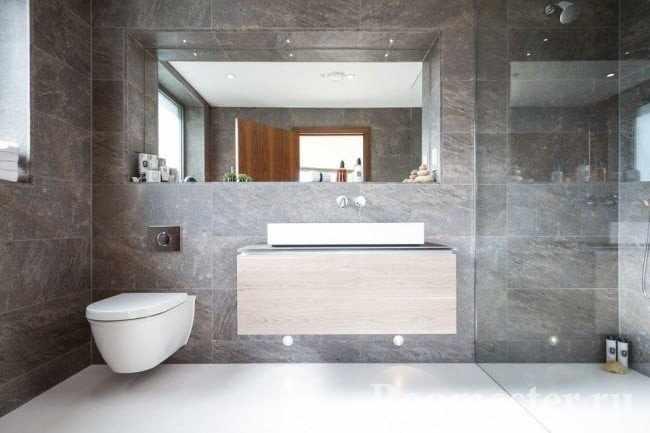 Совмещенный туалет и ванная позволяют увеличить общую площадь