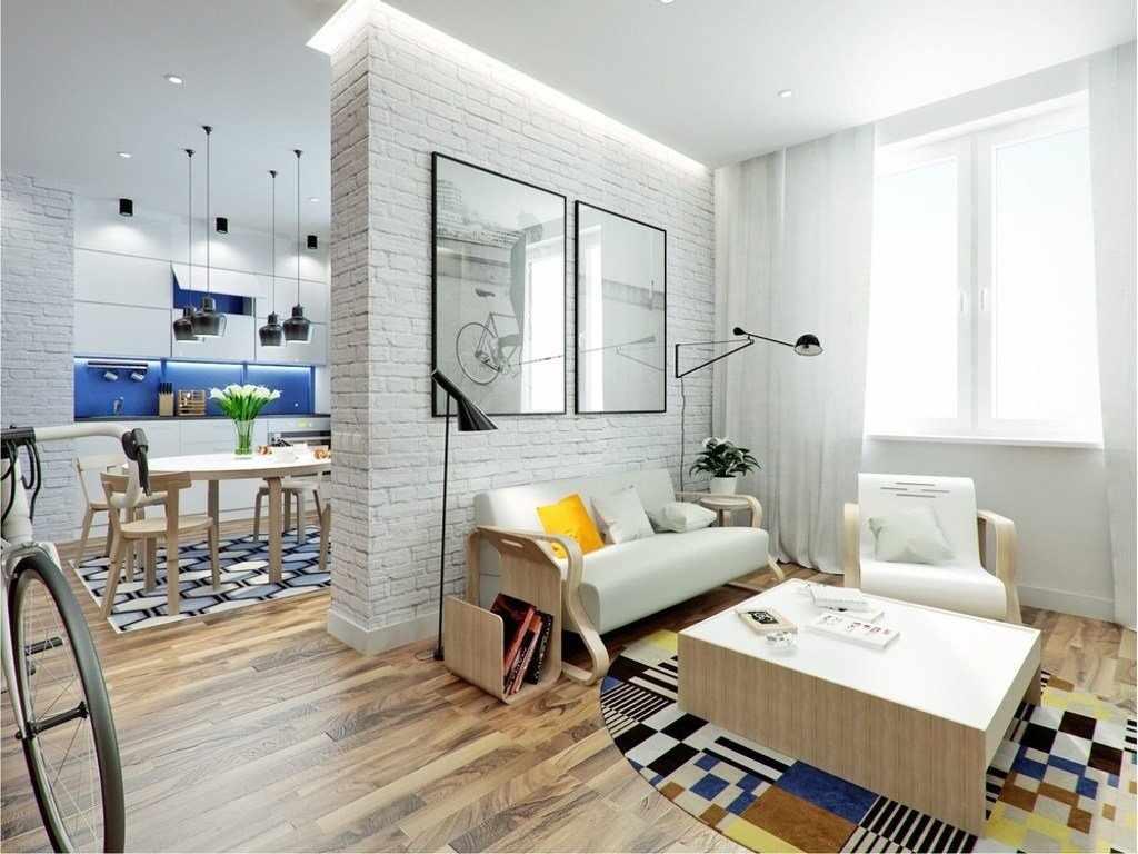 Двухкомнатная квартира 44 кв м в светлых тонах