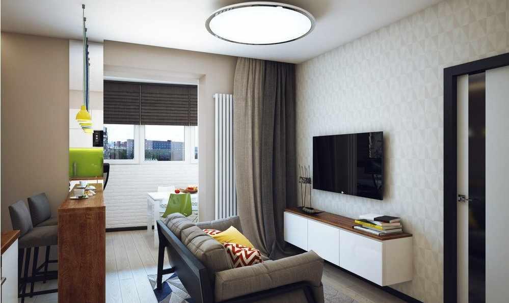 Двухкомнатная квартира 44 кв м для семейной пары
