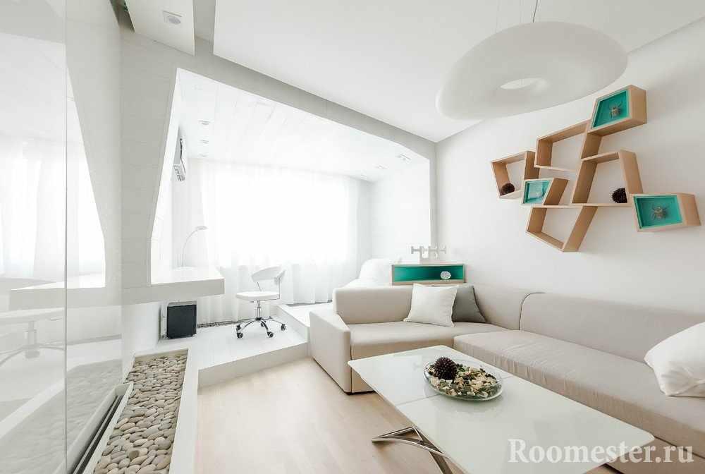 Светлый дизайн комнаты