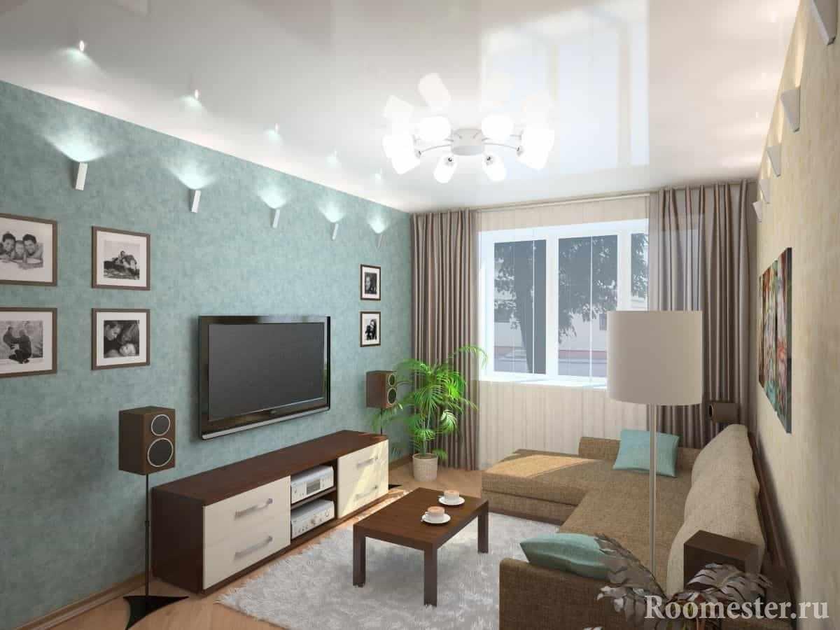 Дизайн стандартной гостиной