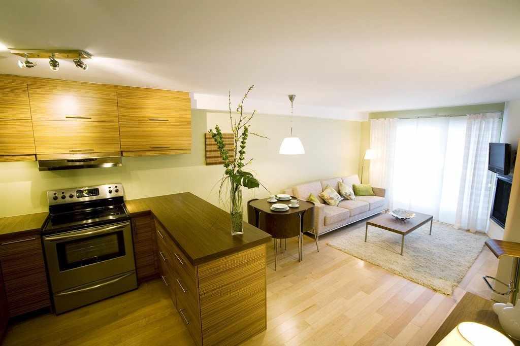 Дизайн кухни-гостиной 19 кв м