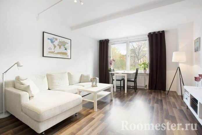 Минимальное количество мебели в гостиной