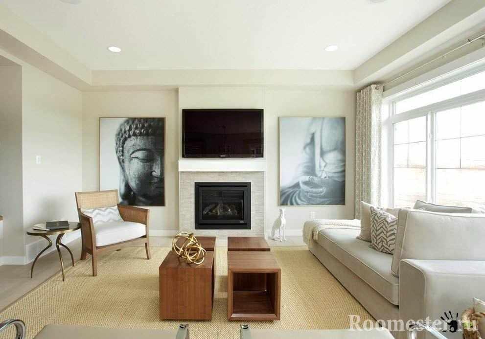 Картины на стене гостиной 20 кв м