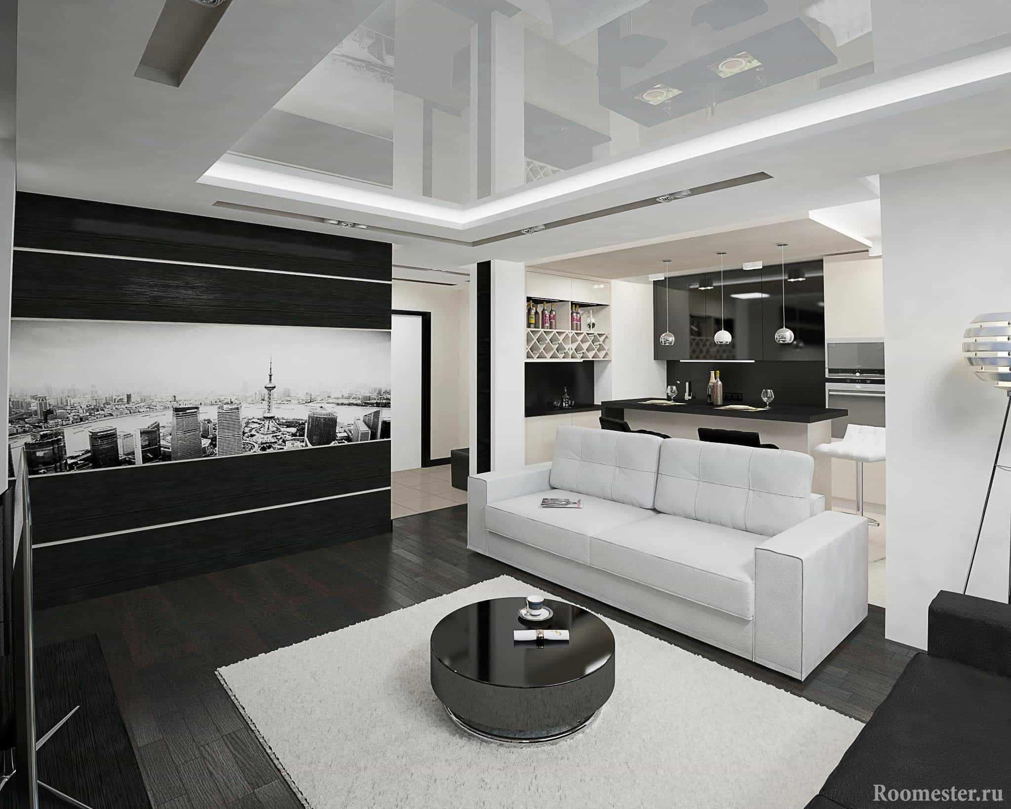 Фотообои в дизайне гостиной