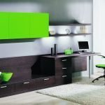 Коричневый и зеленый в интерьере гостиной