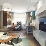 Белая мебель в гостиной