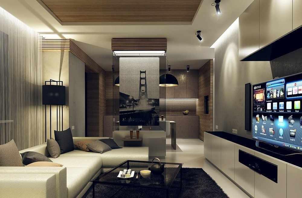 Интерьер гостиной-студии