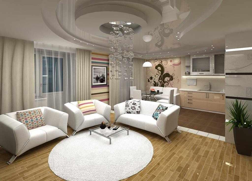 Белый коврик на полу