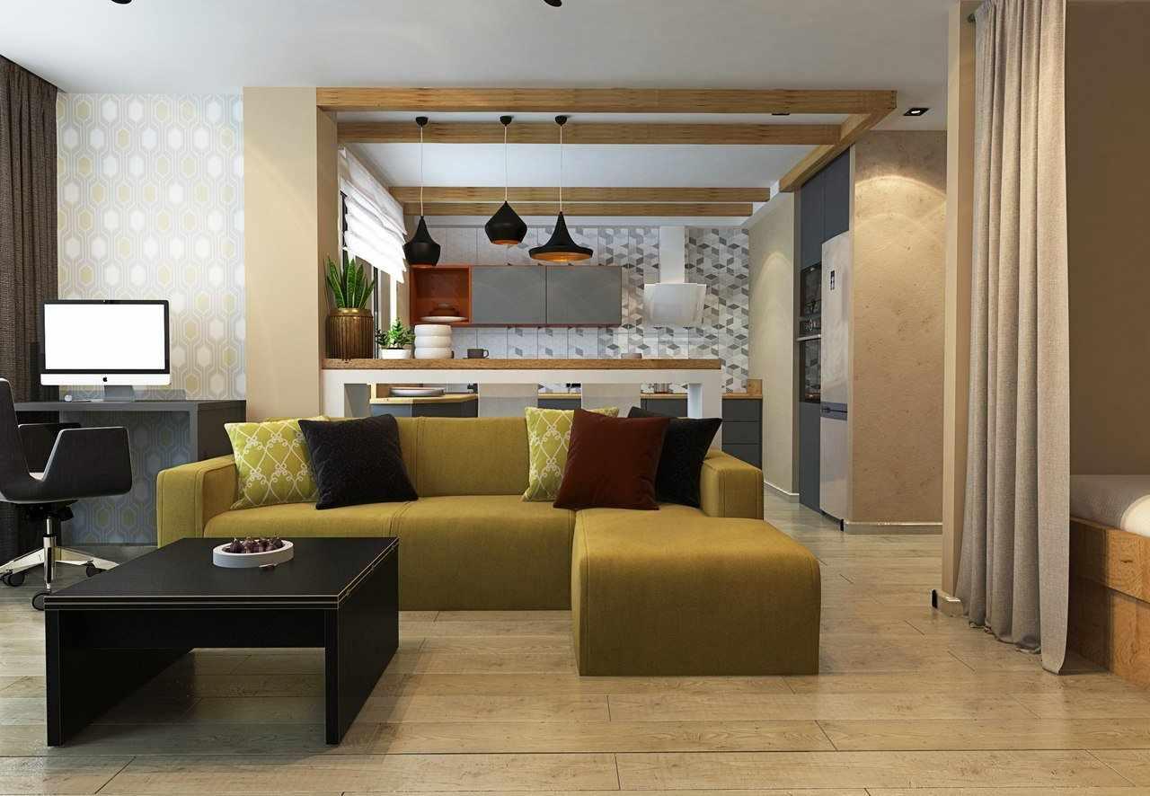 Мебель в интерьере гостиной-студии