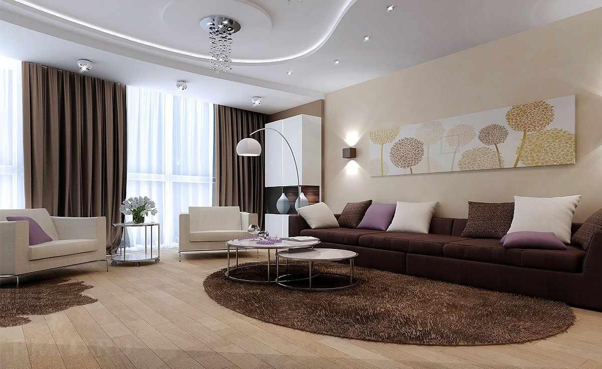 Просторная гостиная в квартире