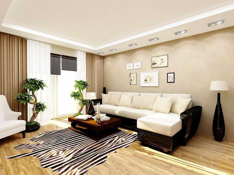 Бежевый цвет в интерьере гостиной