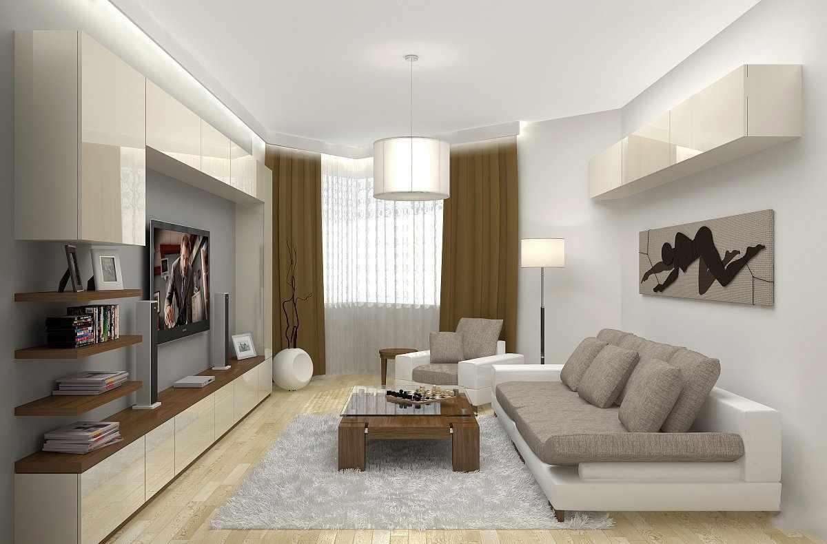 Текстиль в гостиной в стиле минимализм