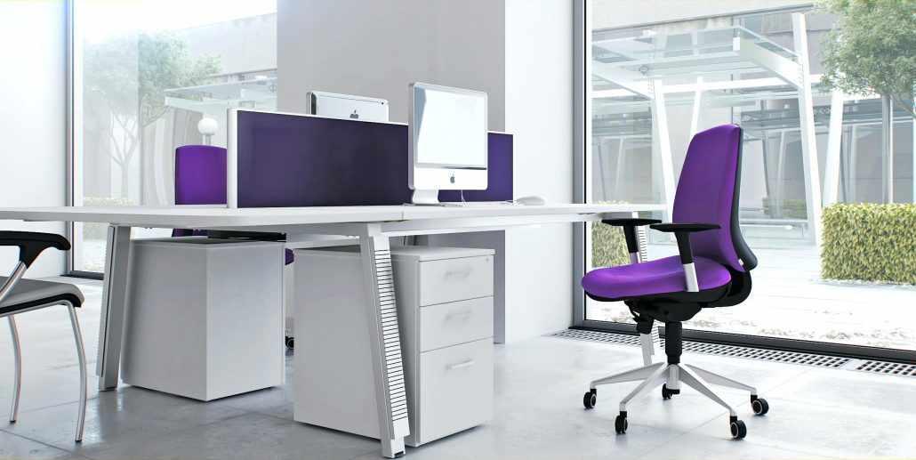 Красочные акценты в интерьере офиса