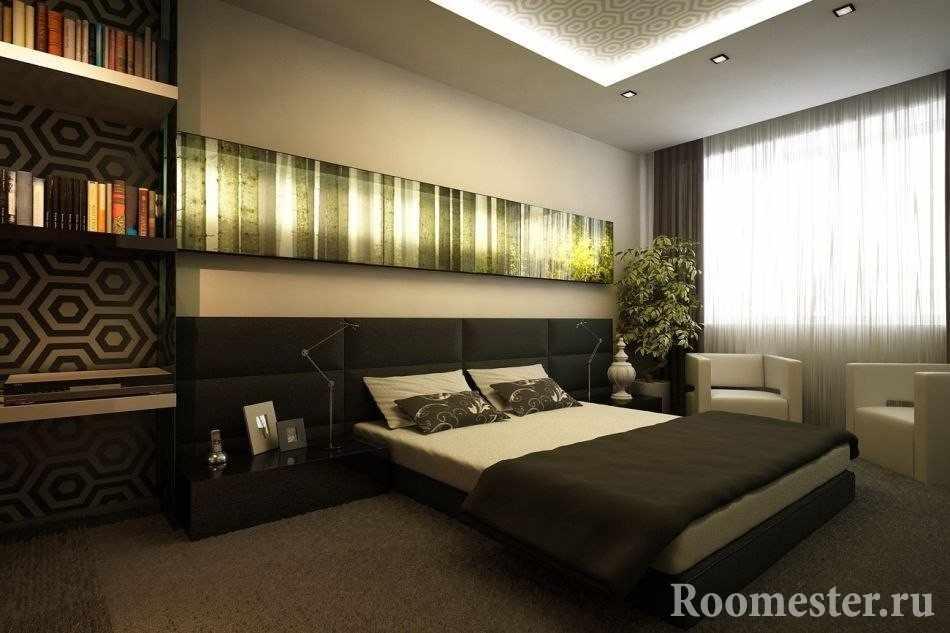 Необычная картина над кроватью
