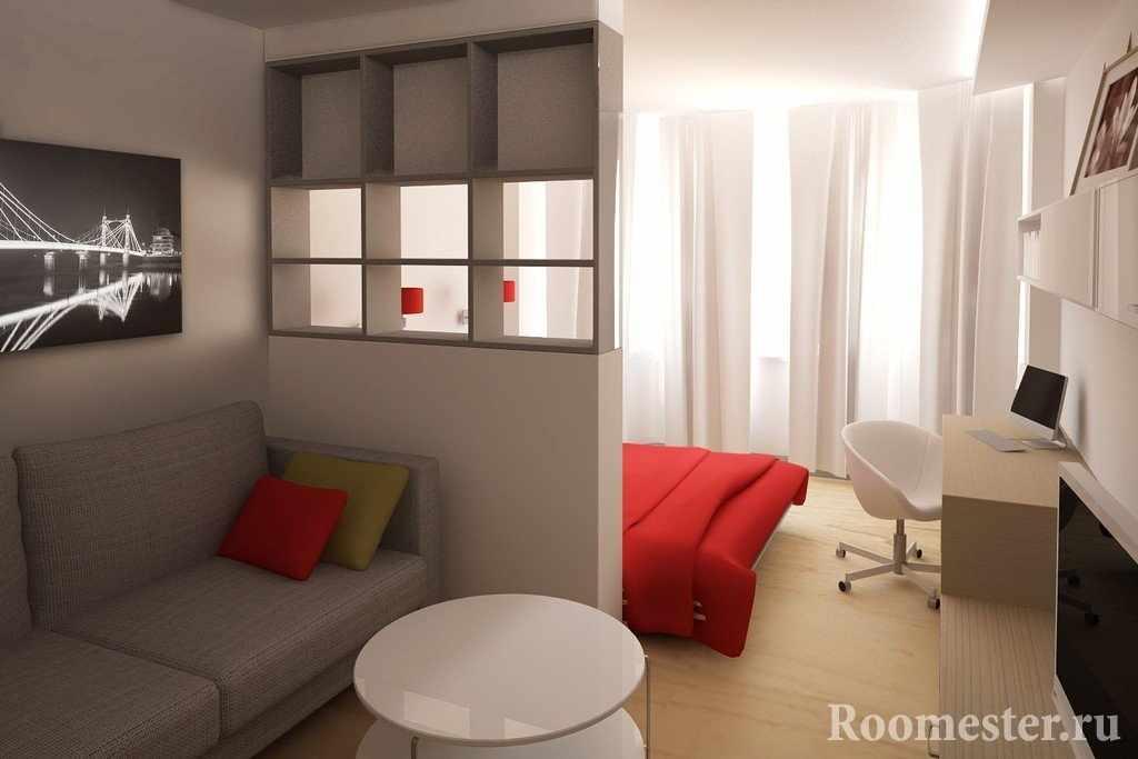 Дизайн-проект комнаты 18 кв м