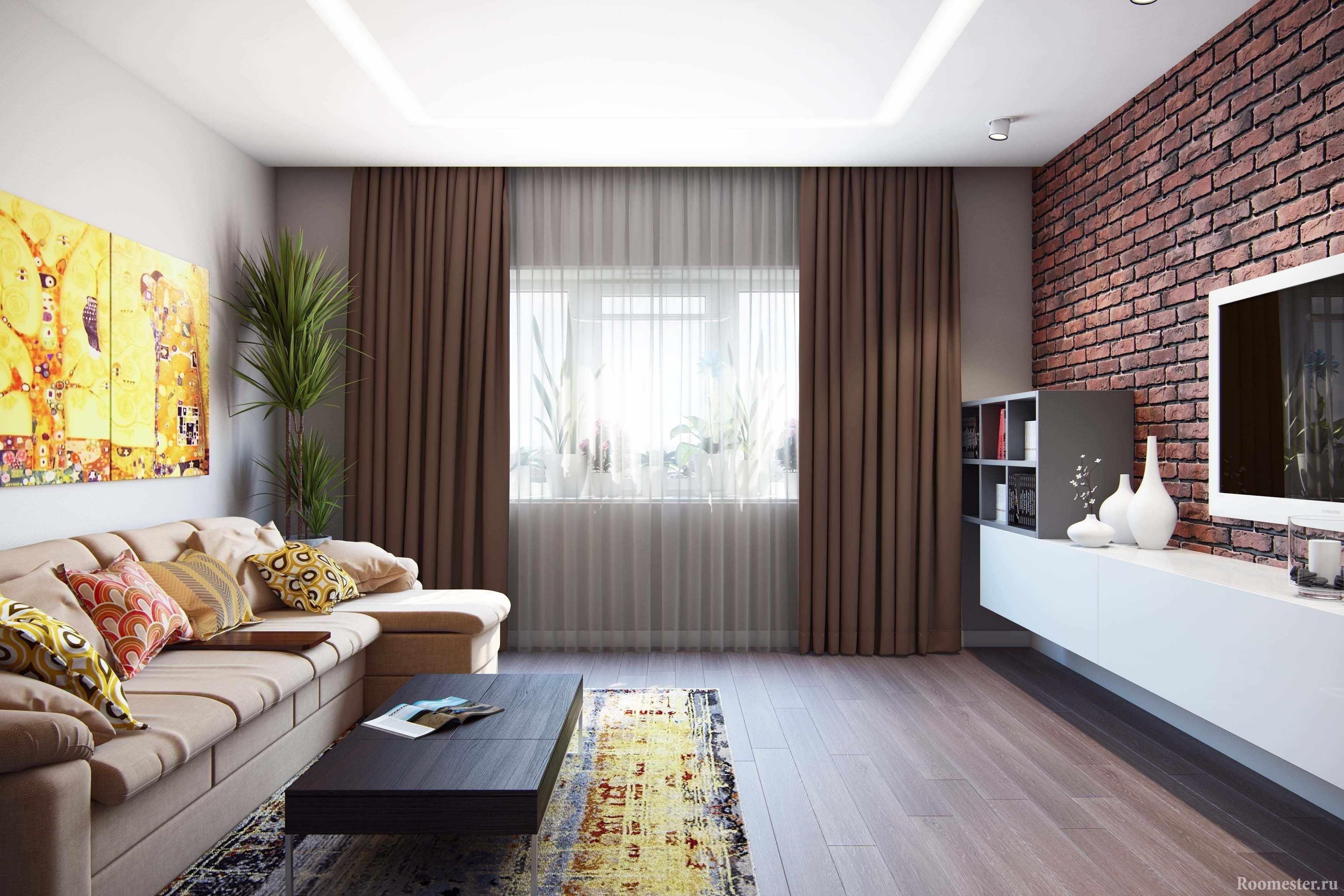Интерьер для комнаты 18 кв м