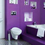 Сиреневый интерьер ванной