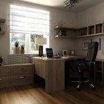 Мебель из дерева в кабинете