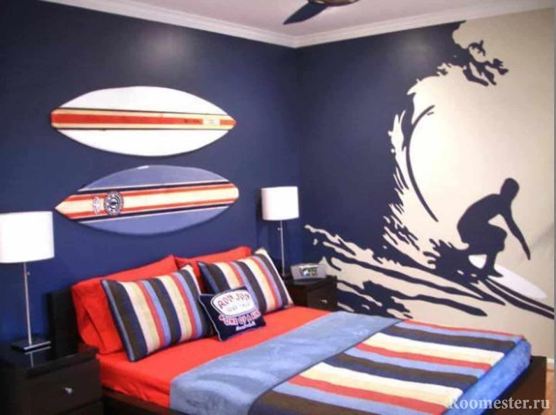 Комната в морском-спортивном стиле