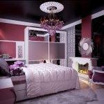 Лиловый декор спальни