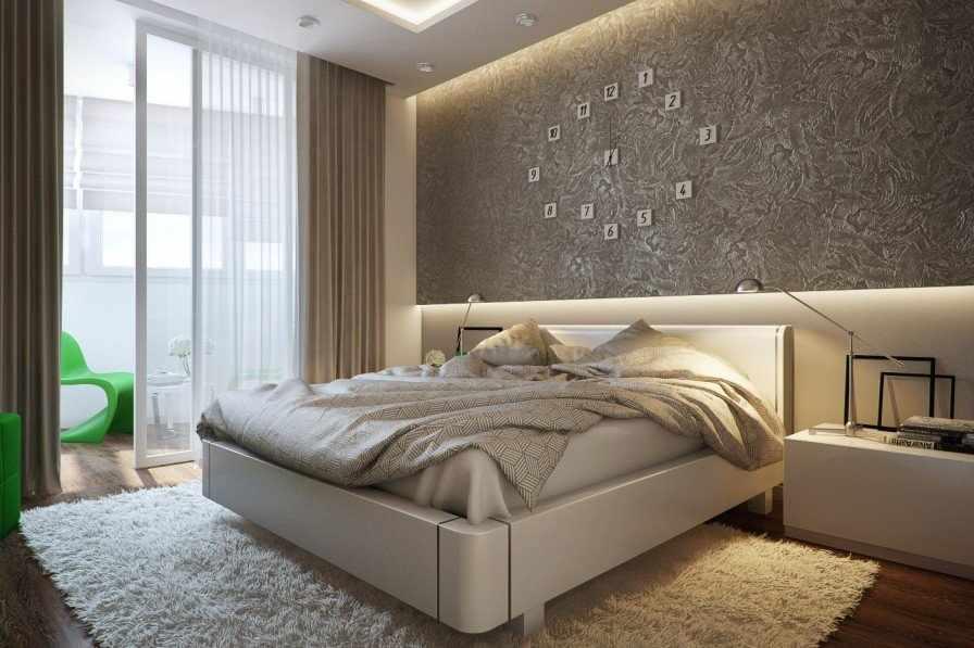 Современная спальня в квартире