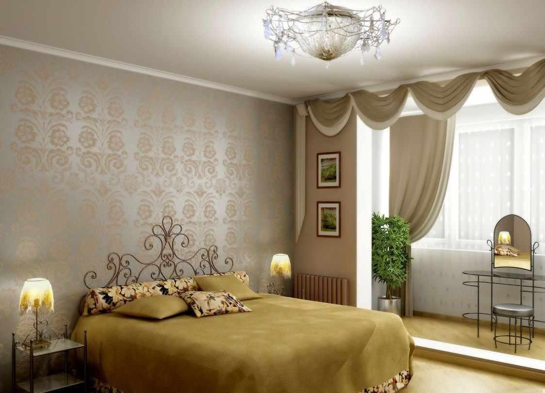 Классическая спальня с лоджией