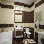 Комбинированная плитка в ванной комнате