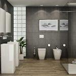Темные стены в ванной