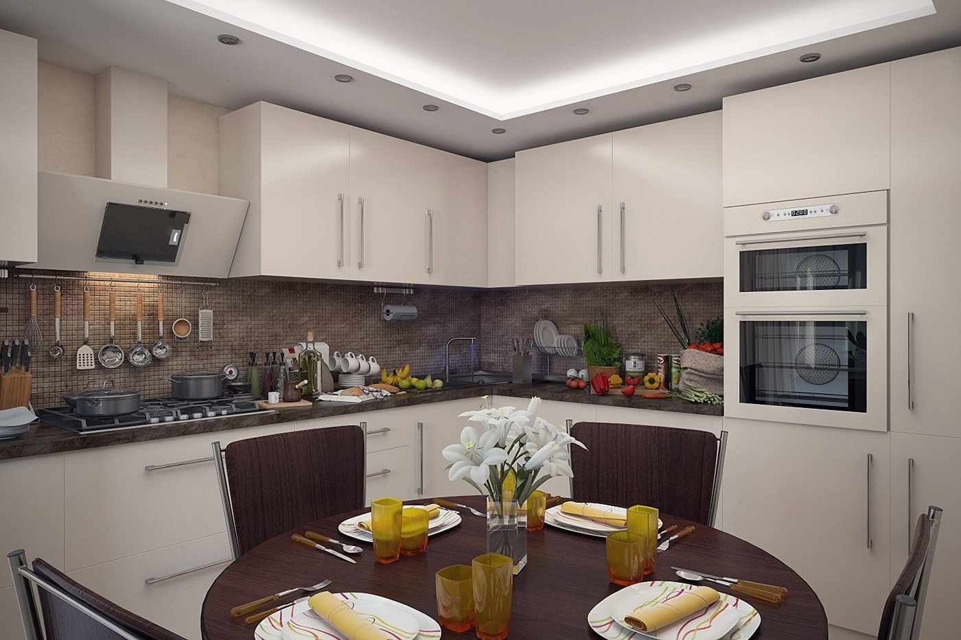 Угловая кухня 11 м кв