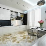 Стильный пол в кухне