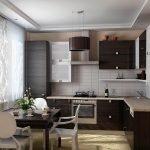 Мебель цвета венге для кухни