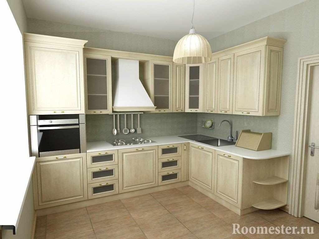 Светлая кухня 12 кв м