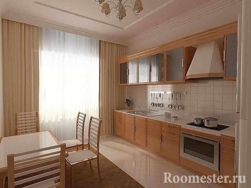 Дизайн кухни из деревянной мебели