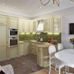 Кухня с шикарной мебелью
