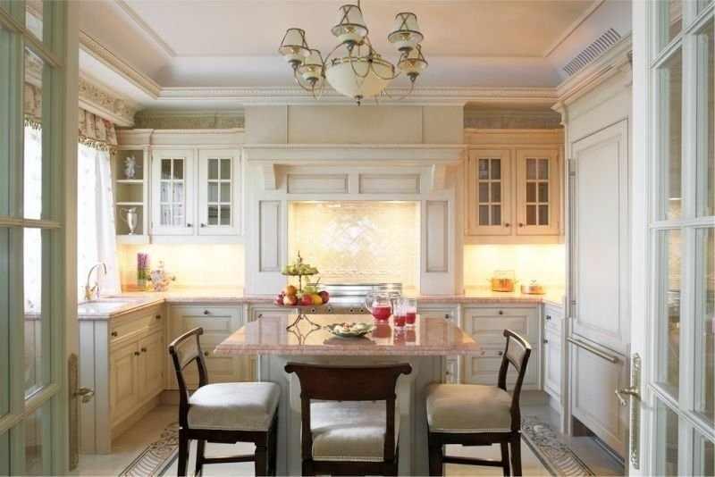 Дизайн кухни 16 кв м с п-образной планировкой