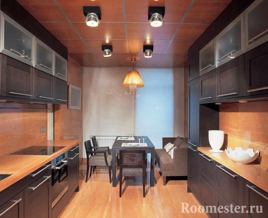 Дизайн кухни 16 кв м с параллельной планировкой