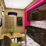 Шоколадная мебель на кухне