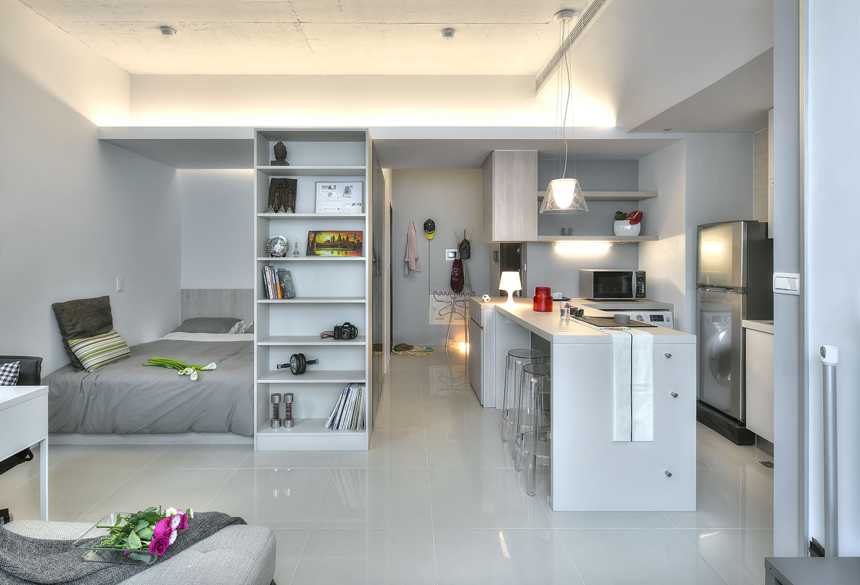 Разделение пространства в квартире перегородкой